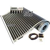 Calorique – Láminas de Calefacción por Suelo Radiante 50cm 150W/m² establece de 0.5m² Solución en Calefacción Efectiva y Ahor