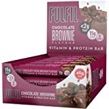 FULFIL Vitamin and Protein Snack-Size Bar (15 x 40g Bars) — Chocolate Brownie Flavour — Low Sugar, 15g High Protein, 9…