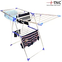 TNC;WORLD OF MODERN UTILITY PRODUCTS Stainless Steel Butter Fly Cloth Drying Stand (Blue)