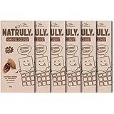 NATRULY Suiker- en Zoetstofvrije Chocolade. Gezoet met witlofvezel - Pure Chocoladesmaak 72% Cacao - Pack 6x85 g