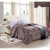 Moon Soft Flannel Floral Blanket King - Size 200x220 cm - YHT-016