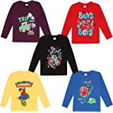 kiddeo Boys Full Sleeve t Shirts(2k18)(03)(Pack of 5)