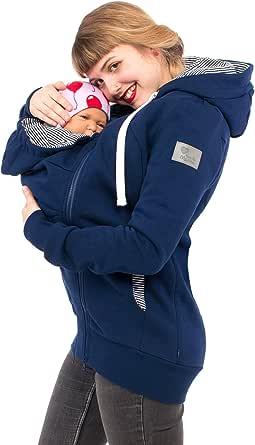 Viva la Mama 3in1 Tragejacke für Mama und Baby I Umstandsjacke Kängurujacke Sweatjacke Elliot
