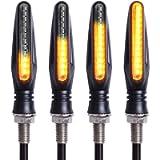 Kinstecks 4PCS Motorcycle Indicators Flowing Turn Signal Lights Motorbike Turning Indicators 12V 12 LEDs Bulbs for…