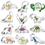 Sinwind Dino Uitsteekvormpjes, 11 stuks, dinosaurus-uitsteekvormen, set dinosaurussen, koekjes, uitsteekvormpjes van roestvri