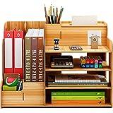 Catekro Organisateur De Bureau En Bois, Organisateur De Fournitures De Bureau, En Bois Pour La Maison, Le Bureau Et L'éCole (