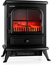 Klarstein St. Moritz • elektrischer Kamin • Kaminofen • Flammensimulation • 1800 Watt Leistung • Heizleistung stufenlos regelbar • geräuscharm • schwarz