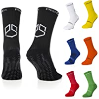 PremSox Football Grip Socks Non Slip Sports Sock featuring Anti-Skid Rubber Pads inside and out Low Mid-Calf Non Slip…