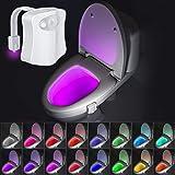 Beanlieve 16 kleuren nachtlampje - toilet nachtlampje, automatische bewegingssensor licht voor badkamer toilet, gloeiende kom