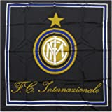 Bandierone INTER Ufficiale Bandiera grande cm. 140 x 140 Nero F.C.Internazionale BGQINNE