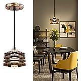 Pendant Lighting Ceiling, Orenic Semi Flush Mount Industrial Pendant Light Fixtures, Adjustable Metal Shade Farmhouse Lightin