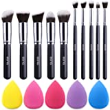 Amazon Brand – Eono Makeup Brush Set Premium Synthetic Kabuki Foundation Face Powder Blush Eyeshadow Brushes Makeup Brush Kit