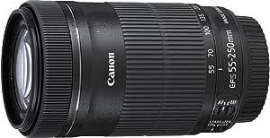 Canon EF-S 55-250mm F/4-5.6 IS STM Tele-Zoomobjektiv (58 mm Filtergewinde) schwarz