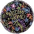 Unique Party Supplies 45,7cm Folie Neon Sterne Welcome Home Ballon
