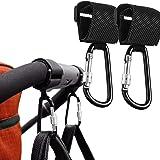 HyAdierTech 2-pack barnvagnskrok barnvagnsklämmor barnvagnskrokar med lås för barnvagn shoppingväska rullstol användning och