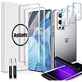 AsBellt Protector Pantalla OnePlus 9 Pro 5G (2*Protector de Pantalla de Cristal y 3*Protector de Cámara de Cristal) Protector