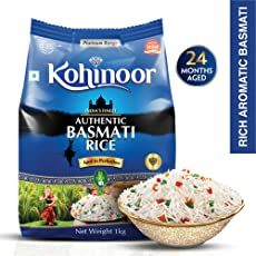 Kohinoor Platinum Authentic Basmati Rice, 1kg