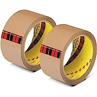 "Scotch BOPP Packaging Tape 2""x50m Tan (Pack of 2)"