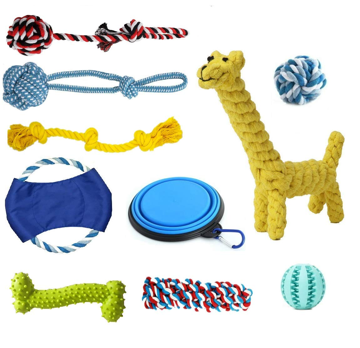 BUENTEK-Dog-Toys-Set-10-Pack-Gift-Set-Ball-Rope-and-Chew-Squeaky-Toys-for-Small-to-Big-Dog