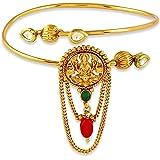 ACCESSHER Golden Copper Temple Bajuband for Women