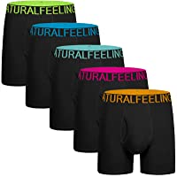 Natural Feelings Mens Underwear Pack of 5 Cotton Trunk Boxer Shorts