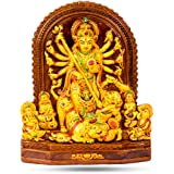 Rare Planet Earthenware Mata Durga Maa Idol Standard Multicolour, 1 Piece