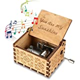 PATPAT® Music Box Wood | You are My Sunshine Theme | Wooden Classic Music Box | Crafts with Hand Crank | 18 Note…