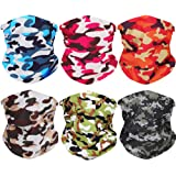 6PCS Bandanas Neck Gaiters for Men Face Cover Headbands Headwear Scarf Balaclava Women