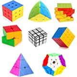 Toy Arena Deal Cubes Pack 2x2, 3x3, 4x4, 5x5, Silver Mirror, MasterMorphix, Pyramid & 3x3 MegaminxDifferent Shaped…