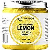 Maschera Purificante Idratante Gel Viso al Limone Anti-Age Acido Ialuronico Anti Imperfezioni Vegan Boost Collagene Ingredien