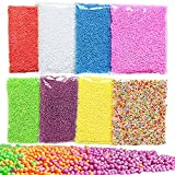 GeMoor 8Pack Styrofoam Balls for Slime, Small Tiny Foam Beads for Floam Filler Arts Crafts Supplies, 0.1-0.18 Inch, 40000 pcs