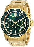 Invicta 0075 Pro Diver - Scuba Orologio da Uomo acciaio inossidabile Quarzo quadrante verde