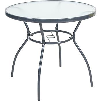greemotion glastisch faro esstisch rund gartentisch mit glasplatte balkontisch. Black Bedroom Furniture Sets. Home Design Ideas