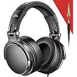 DJ Kopfhörer Over Ear Headset, Vogek Studiokopfhörer Adapter-frei Geschlossener Headphone 6,35mm & 3,5 mm professionelle…