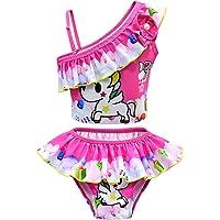 Costume da bagno a due pezzi con unicorno, costume da bagno per bambine