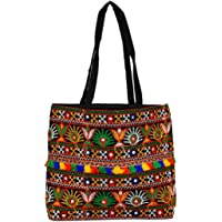 LeeRooy Fully embroided Work Black Color Rajasthani Traditional Bag For Women/Girl
