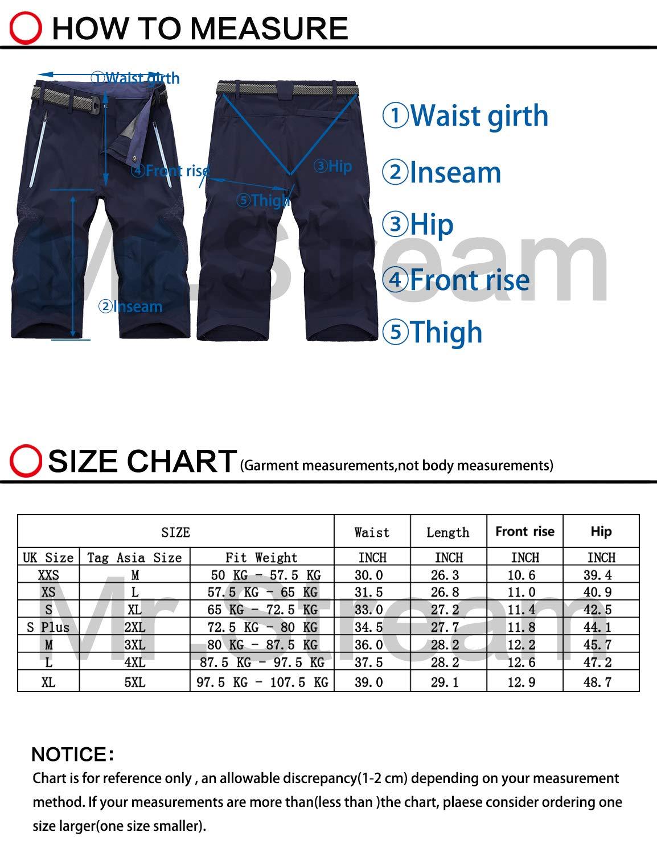 71navyl49NL - Mr.Stream Men's Water Resistan Classic Bermuda Beach Quick Drying Cargo Shorts 3/4 Capris Walking Casual Cropped Trousers