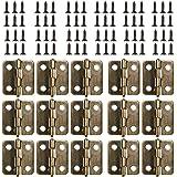 Kleine Mini scharnieren, 50 packs kast lade deur borst butt scharnieren connectoren met 200 stuks 8 mm mini messing scharnier