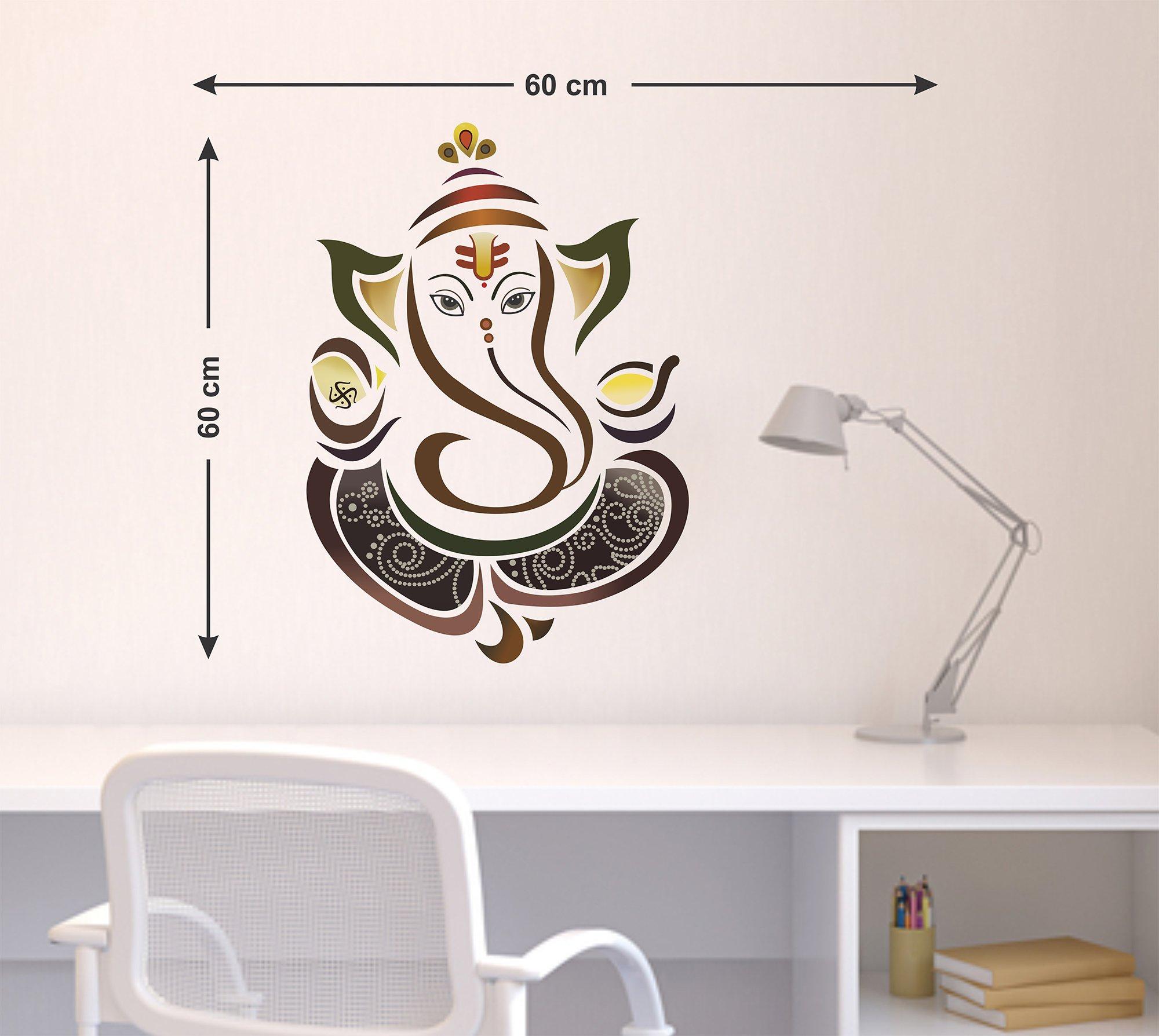 cf90c333f84 Decals Design Wall Sticker  Modern Elegant Ganesha God For Pooja ...