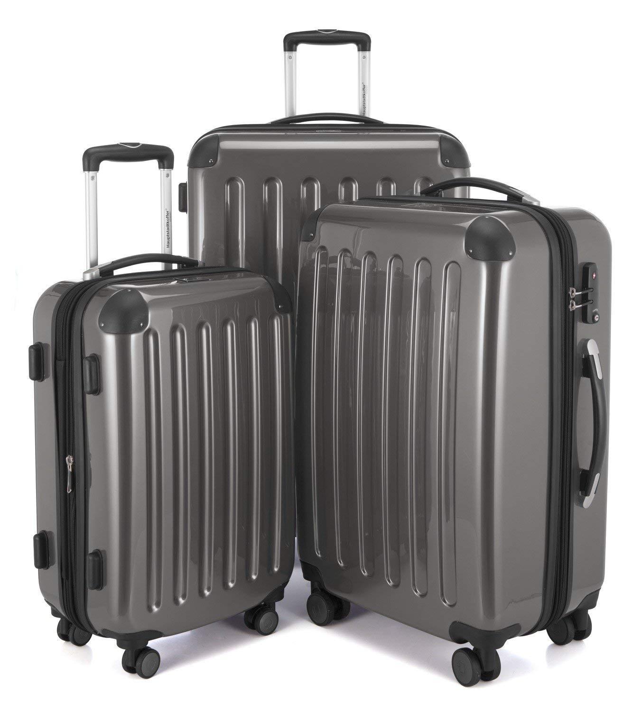 Hauptstadtkoffer-3er-Kofferset-Hartschale-Trolleys-Titan-Hochglanz119l74l42l-4-cm-Dehnfalte-Zahlenschlo-4-Doppelrollenineinander-stapelbar-Serie-Alex-gesamt-235-Liter