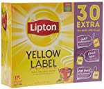 Lipton Yellow Label Black Tea, 100 Teabags + 30 Assorted Extra Strong, Mint And Cardamom Teabags