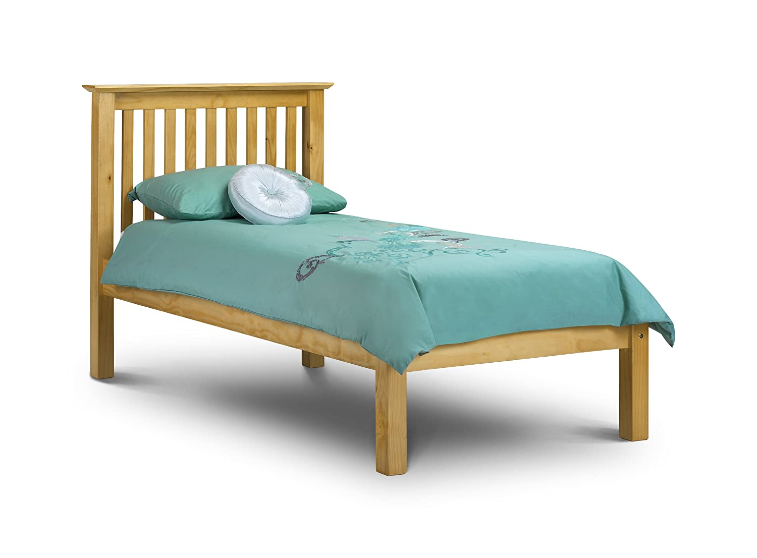 Julian Bowen Barcelona King Size Bed with Low Foot End, Stone ...