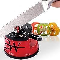 Knife Sharpener - Sharpens Any Blade from Chef's, Utility, Carving, Serrated to Steel Pocket Pen Knives -Safe Manual Knife Sharpening Tool - Kitchen & Home Knife Sharperener Appliances