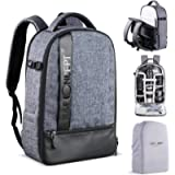 K&F Concept Camera Backpack, Professional Large Capacity Waterproof Photography Bag with Rain Cover for DSLR Cameras,15…