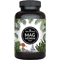 Magnesium Kapseln - 365 Stück (1 Jahr). 664mg je Kapsel, davon 400mg ELEMENTARES (reines) Magnesium - höherer Gehalt als…