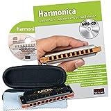 CASCHA HH 1610 FR Harmonica Professional Blues Set d'harmonica avec méthode d'instruction en français avec CD MP3