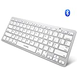 VICTSING Clavier Bluetooth Portable Ultra-Mince Silencieux avec Commutateur Indépendant 78 Touches Wireless Keyboard pour iOS, Android, Windows, Mac Os, Ordinateur Portable, Tablette, Smartphone