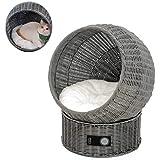 PULLEY Katthus husdjur rotting stickning säng korg bo handgjord katt lägenhet inomhus utemöbler för hundar/katt, gjord av böj