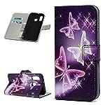 Für Samsung Galaxy A40 Hülle Lader Tasche PU Lader Hülle Gemalt Muster Flip Brieftasche Kartenhalter Magnetschnalle...