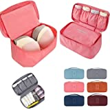 Everbuy Travel Organizer Bra Underwear Lingerie Pouch Makeup Bag Luggage Storage Case  Multicolor